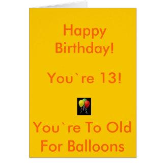 13 B-Day Card