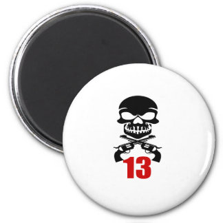 13 Birthday Designs Magnet