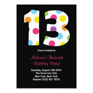 13 Birthday Party Invitation