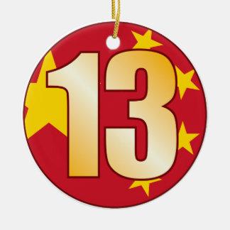 13 CHINA Gold Ceramic Ornament