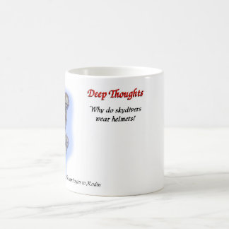 13 deep thoughts coffee mug