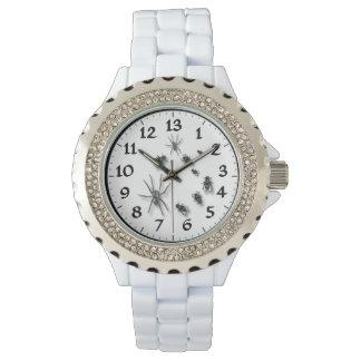 13 Hour Dial Women's Rhinestone White Enamel Watch
