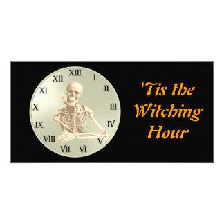 13 Hour Skeleton Clock Photo Cards