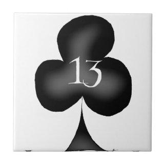 13 of clubs ceramic tile