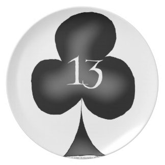 13 of clubs plate