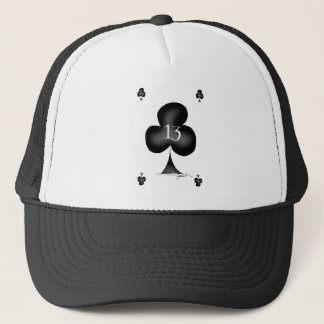 13 of clubs trucker hat