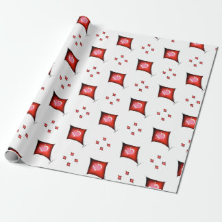 13 of diamonds wrapping paper