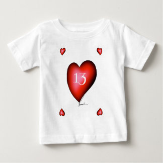 13 of Hearts Baby T-Shirt