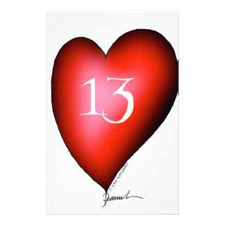 13 of Hearts Personalised Stationery