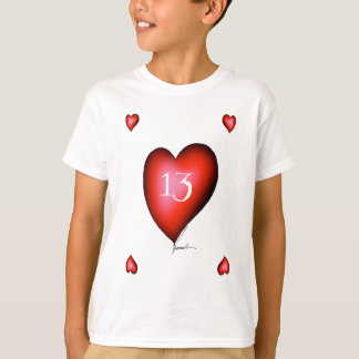 13 of Hearts T-Shirt