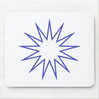 13 Pointed Star blue Mousepads