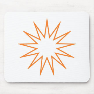 13 Pointed Star orange Mousepads