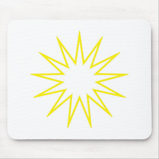 13 Pointed Star yellow Mouse Pad