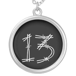 13 SILVER PLATED NECKLACE