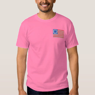13 Star 1777 Flag Embroidered T-Shirt