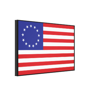 13-Star United States Flag Gallery Wrap Canvas