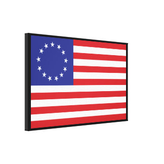 13-Star United States Flag Stretched Canvas Print