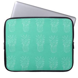 13' Teal Pineapple Laptop Case