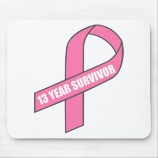 13 Year Survivor (Breast Cancer Pink Ribbon) Mouse Pad