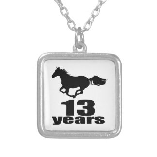 13 Years Birthday Designs Silver Plated Necklace
