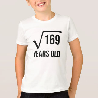 13 Years Old Square Root T-Shirt