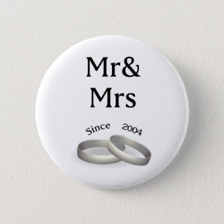 13th anniversary matching Mr. And Mrs. Since 2004 6 Cm Round Badge