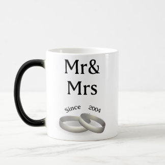 13th anniversary matching Mr. And Mrs. Since 2004 Magic Mug