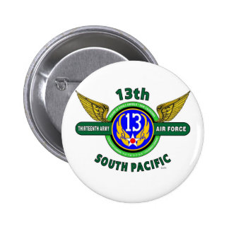 13TH ARMY AIR FORCE SOUTH PACIFIC WW II PINBACK BUTTON