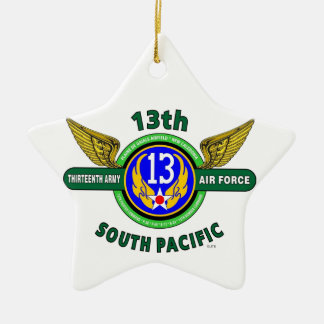 """13TH ARMY AIR FORCE """"SOUTH PACIFIC"""" WW II CERAMIC STAR DECORATION"""