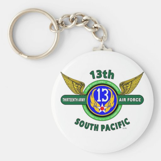 """13TH ARMY AIR FORCE """"SOUTH PACIFIC"""" WW II KEY CHAINS"""