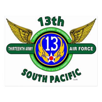 "13TH ARMY AIR FORCE ""SOUTH PACIFIC"" WW II POSTCARD"