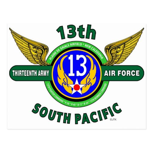 """13TH ARMY AIR FORCE """"SOUTH PACIFIC"""" WW II POST CARDS"""
