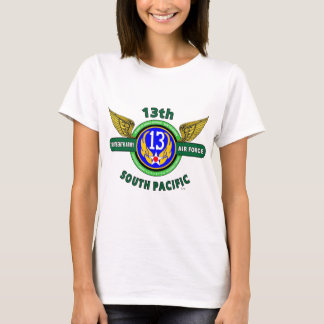 """13TH ARMY AIR FORCE """"SOUTH PACIFIC"""" WW II T-Shirt"""
