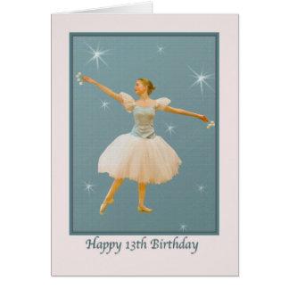 13th Birthday, Ballet Dancer Card