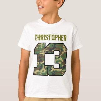 13th Birthday Camo Custom Name V013A T-Shirt