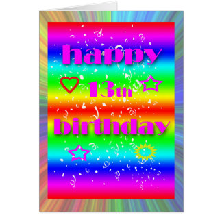 13th Birthday Greeting Card