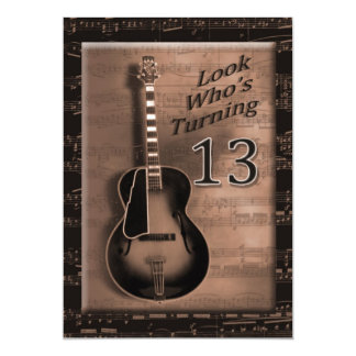 13th Birthday - Guitar Invites