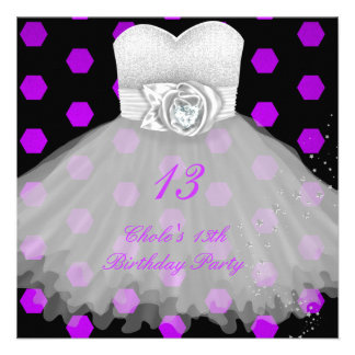 13th Birthday Party Girls 13 Teen Announcement