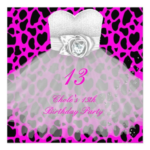 File Name : 13th_birthday_party_girls_13_teen_invitation ...