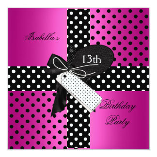 13th Birthday Party teenager girls Card