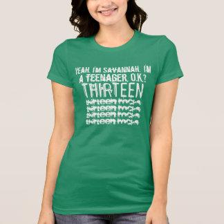 13th Birthday Thirteen Rocks Custom Name V15 T-Shirt