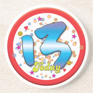 13th Birthday Today Drink Coasters