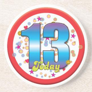 13th Birthday Today v2 Coasters