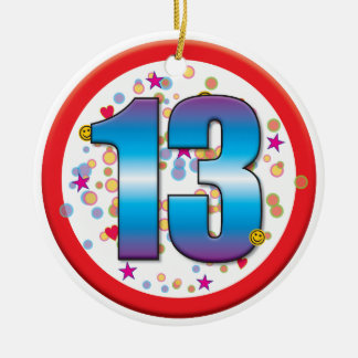 13th Birthday v2 Ceramic Ornament