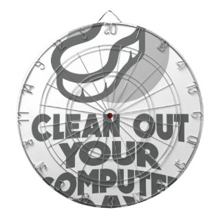 13th February - Clean Out Your Computer Day Dartboard