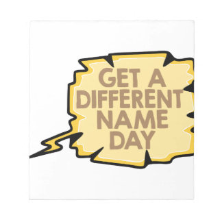 13th February - Get A Different Name Day Notepad