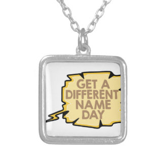 13th February - Get A Different Name Day Silver Plated Necklace