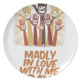 13th February - Madly In Love With Me Day Plate