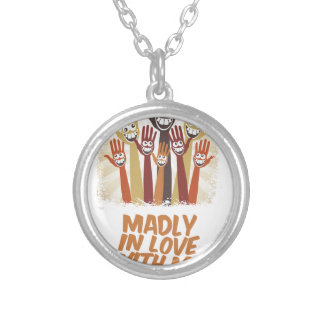 13th February - Madly In Love With Me Day Silver Plated Necklace