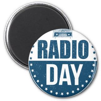 13th February - Radio Day - Appreciation Day Magnet
